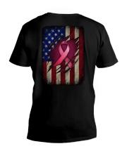 Ribbon flag Independence day V-Neck T-Shirt tile