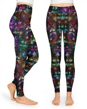Coloful cats High Waist Leggings front