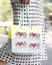 Peace Love Baseball Sticker - 4 pack (Horizontal) aos-sticker-4-pack-horizontal-lifestyle-front-24
