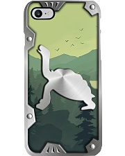 Turtle Lovers Metal Pattern Print Phone Case i-phone-8-case