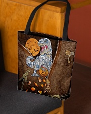 Mummy dinosaur Leather pattern print All-over Tote aos-all-over-tote-lifestyle-front-02