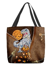 Mummy dinosaur Leather pattern print All-over Tote back