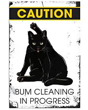Caution bum cleaning  11x17 Poster front