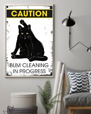 Caution bum cleaning  11x17 Poster lifestyle-poster-1
