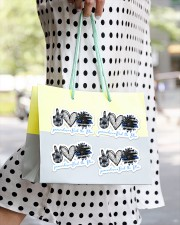 Peace Love Back the blue Sticker - 4 pack (Horizontal) aos-sticker-4-pack-horizontal-lifestyle-front-24