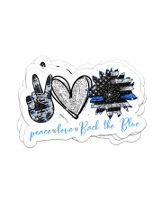 Peace Love Back the blue Sticker - 4 pack (Horizontal) front