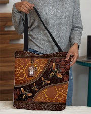 Bee A Queen Leather Pattern Print All-over Tote aos-all-over-tote-lifestyle-front-10