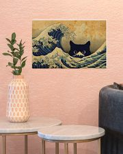 Great Wave Cat 17x11 Poster poster-landscape-17x11-lifestyle-21