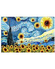 Sunflower Van Gogh Starry night 17x11 Poster front