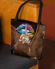Whisper Words Of Wisdom Leather Pattern Print All-over Tote aos-all-over-tote-lifestyle-front-02