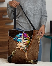 Whisper Words Of Wisdom Leather Pattern Print All-over Tote aos-all-over-tote-lifestyle-front-10