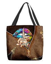 Whisper Words Of Wisdom Leather Pattern Print All-over Tote front