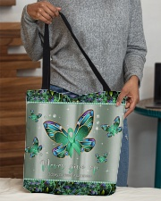 - Never Give Up pattern print  All-over Tote aos-all-over-tote-lifestyle-front-10