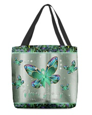- Never Give Up pattern print  All-over Tote back