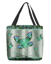 - Never Give Up pattern print  All-over Tote front