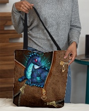 Dragon Lovers Leather Pattern Print All-over Tote aos-all-over-tote-lifestyle-front-10