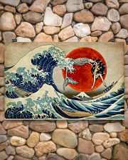 The great wave mermaid 17x11 Poster poster-landscape-17x11-lifestyle-15