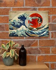 The great wave mermaid 17x11 Poster poster-landscape-17x11-lifestyle-23
