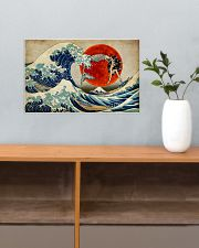 The great wave mermaid 17x11 Poster poster-landscape-17x11-lifestyle-24
