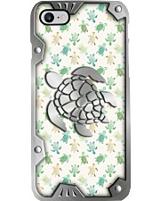 I love turtles Metal pattern print   Phone Case i-phone-8-case