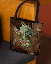 Dragon Lovers Leather Pattern Print  All-over Tote aos-all-over-tote-lifestyle-front-02