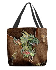 Dragon Lovers Leather Pattern Print  All-over Tote back