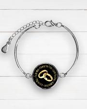 LIMITED EDITION - TO MY WIFE Metallic Circle Bracelet aos-bracelet-metal-front-lifestyle-2