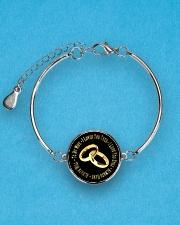 LIMITED EDITION - TO MY WIFE Metallic Circle Bracelet aos-bracelet-metal-front-lifestyle-3