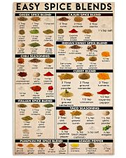 Easy spice blends 24x36 Poster front
