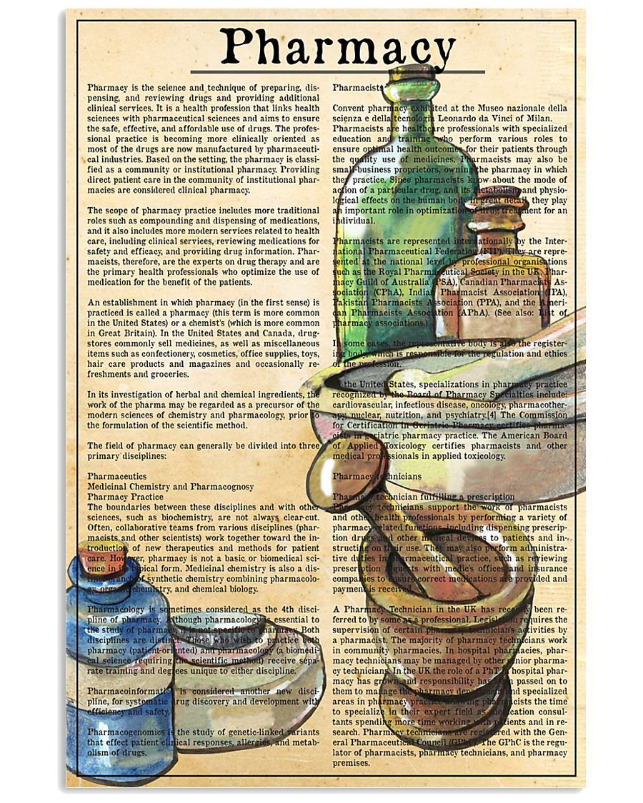 pharmacy-text 11x17 Poster