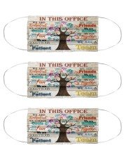 this office tree optometrist  Cloth Face Mask - 3 Pack front
