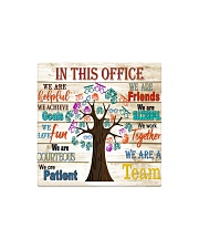 this office tree optometrist  Square Magnet tile