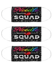 squad blk mask needle  Cloth Face Mask - 3 Pack front
