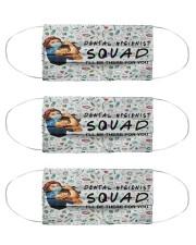 squad mask dental hygienist Cloth Face Mask - 3 Pack front