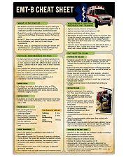 EMT B cheat sheet poster 11x17 Poster front