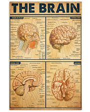 brain watercolor neurosurgery 24x36 Poster front