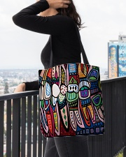 Dental abstract 2506 2 tote All-over Tote aos-all-over-tote-lifestyle-front-05