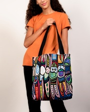 Dental abstract 2506 2 tote All-over Tote aos-all-over-tote-lifestyle-front-06