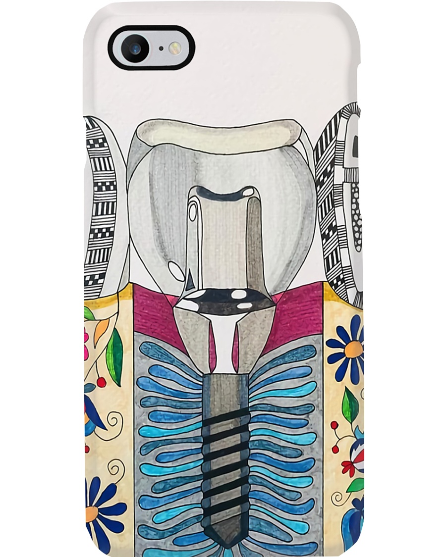 dentist-abstract 4ad 0705 -4 Phone Case