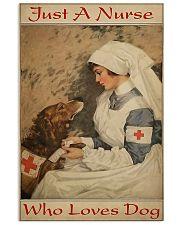 nurse love dog 11x17 Poster front