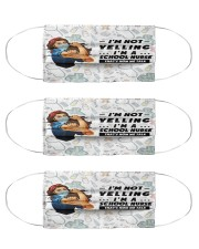 Yelling School Nurse Cloth Face Mask - 3 Pack front