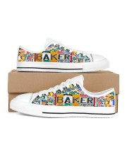 shoe plate baker Men's Low Top White Shoes inside-right-outside-right