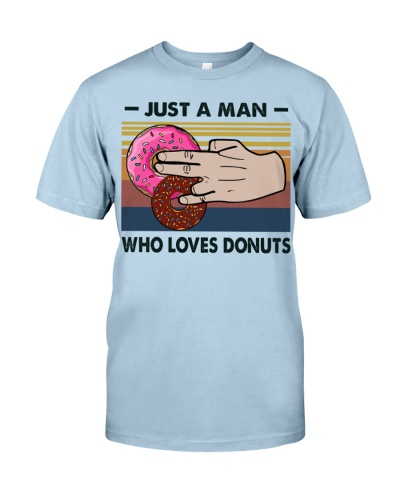 just a man who loves donuts
