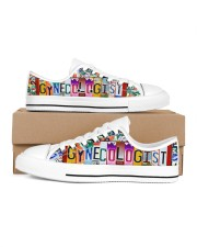 shoe plate gynecologist Women's Low Top White Shoes thumbnail