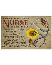 nurse born to be 17x11 Poster front