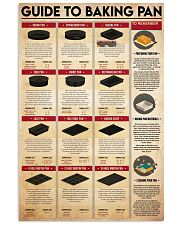 baking pan guide 24x36 Poster front