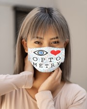Love optometry mas Cloth Face Mask - 3 Pack aos-face-mask-lifestyle-18