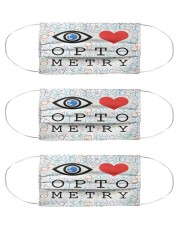 Love optometry mas Cloth Face Mask - 3 Pack front