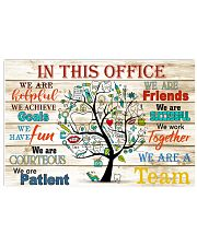 this office tree dental 36x24 Poster front