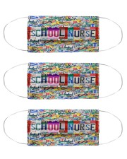 plate mask school nurse Cloth Face Mask - 3 Pack front